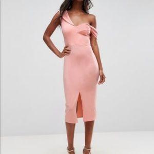 Asos Asymmetric Sculpted Dress